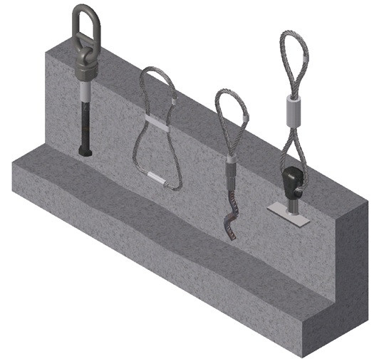 1D Threaded Anchor Lifting System